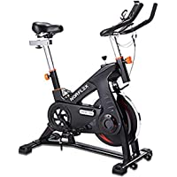 Scenic Spin Bike Flywheel Commercial Gym Exercise Home Workout Bike Fitness Commercial, Fully Adjustable, LCD Screen…
