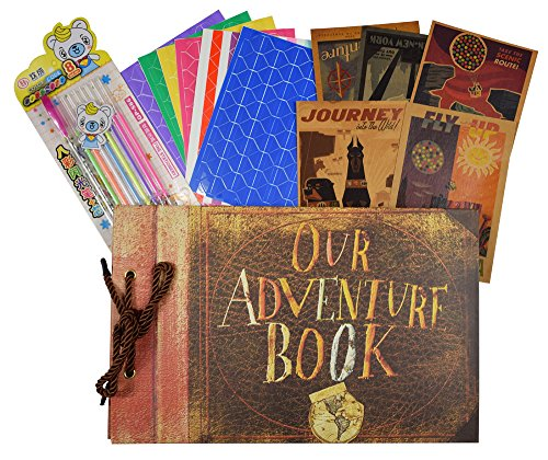 Our Adventure Book,80 loose-leaf pages DIY Photo Album,Anniversary Scrapbook,Wedding Photo Album by Artangle