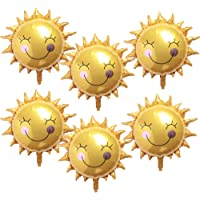 SBYURE 26 Inch Gold Shiny Sun Smile Foil Mylar Balloons Sunshine Helium Balloons Baby Shower Sunny Wedding Favors…