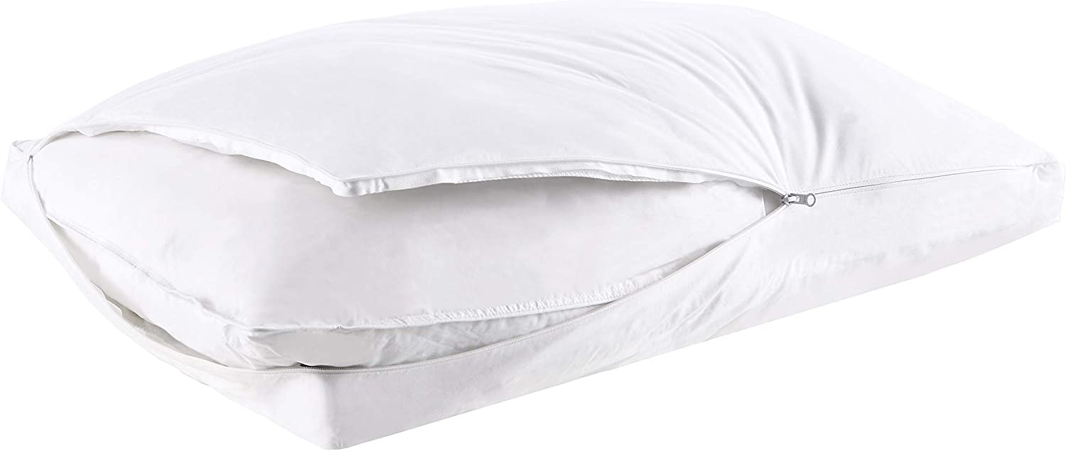 Joyching Bed Pillows for Sleeping Home Collection Pillow,100% Breathable Cotton Down Alternative Pillow,Hypoallergenic and Adjustable Neck Gusseted Pillow(Standard 20x26in)