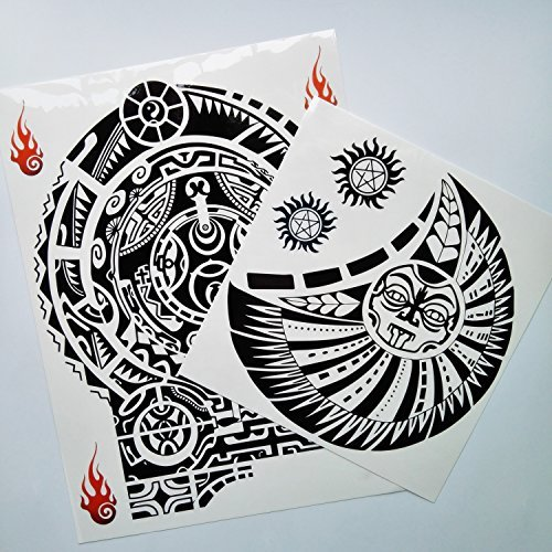 6e58cfa83 Kotbs 2 Sheets Extra Large Totem Temporary Tattoo Stickers, Waterproof Big Temporary  Tattoos for Men Adults Guys Women Body Art Arm Shoulder Chest Make Up ...