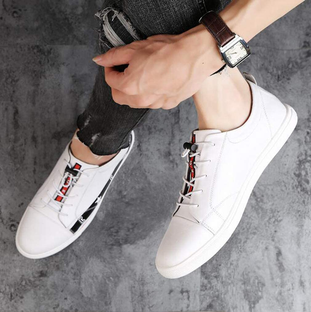 Hy Mens Casual Shoes,Spring Flat Deck Shoe,Student Slip-Ons Running Shoes,Trekking Travel Shoes Cycling Shoes,White,42