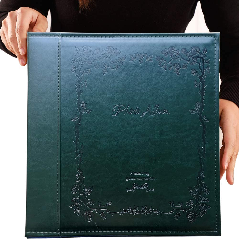Totocan 4x6 Photo Album 600 Pockets, Extra Large Capacity Picture Album with Vintage Leather Cover, Family, Baby, Wedding Album (Dark Green)