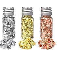 HEALLILY 3 Stks Bladgoud Vlokken Metallic Folie Vlokken Voor Schilderen Kunsten Vergulden Ambachten Nagels en Diy Taart…