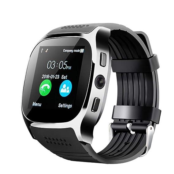 Amazon com: Bluetooth Smart Watch Touchscreen with Camera