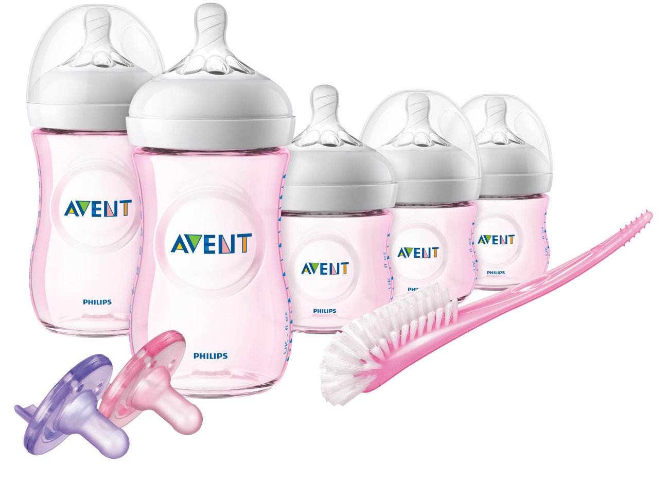 Philips Avent Natural Baby Bottle Pink Gift Set, SCD206/11 by Philips AVENT