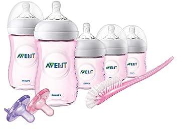 Nuevo Philips AVENT Set de inicio de biberón anticólico rosa Biberones Baby,