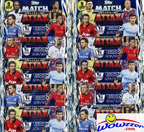 2013-2014-topps-match-attax-premier-league-soccer-lot-of-ten-factory-sealed-foil-packs-includes-50-c