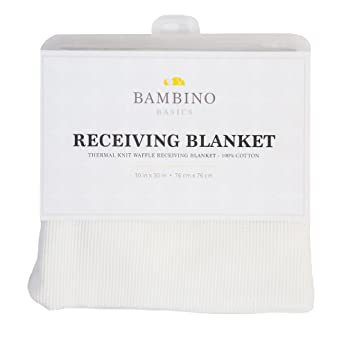 and Navy Blue Perfect Gift for Baby Shower or any Expecting Mother ThermalKnit.Recblankets.White Bambino Basics 100/% COTTON Grey In 5 Colors: Baby Blue White 30 x 30 Pink Waffle Knit Thermal Receiving Blankets