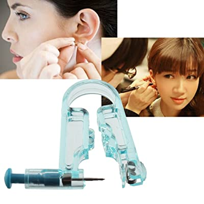 Ear Piercing Gun,Baynne Disposable Safety Sterile Body Piercing Gun Unit Tool With Ear Stud Asepsis Pierce Kit