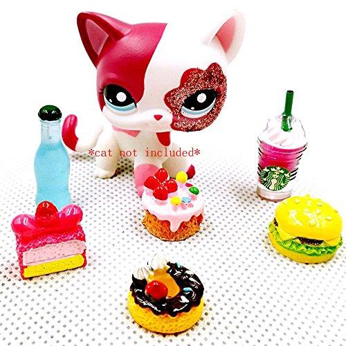 Food Cake Starbucks Drink Burger Accessories Lot For Littlest Pet Shop LPS Dog Cat PET NOT INCLUDED