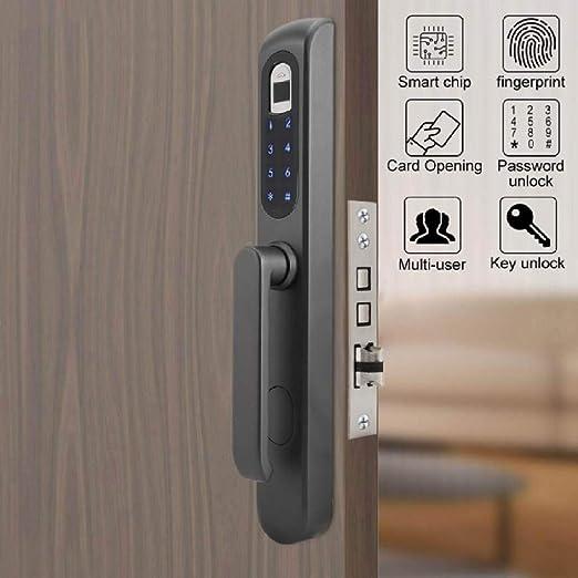 ADGSSJ Aleaciš®n de aluminio Inteligente Cerradura de puerta ...