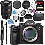Sony Alpha a9 Mirrorless Digital Camera (Body) ILCE9/B + Sony FE 16-35mm f/2.8 GM Lens SEL1635GM + 64GB SDXC Card + Carrying Case + Memory Card Wallet + Deluxe Cleaning Kit Bundle