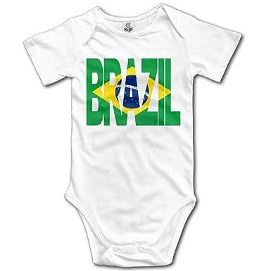 f7272a38a92c MMJQ6 Brazil Flag Baby Newborn Crawling Suit Short-Sleeve Romper Bodysuit Onesies  Jumpsuit  Amazon.co.uk  Clothing