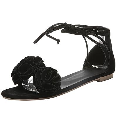 best sneakers f4531 1495f AIYOUMEI Damen Flache Sandalen mit Blumen Sandaletten Flach ...