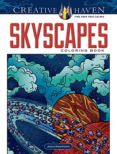 Creative Haven SkyScapes Coloring Book (Adult Coloring)