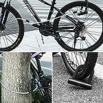 MUEAST-Lucchetto-a-U-per-Bici-U-Blocco-Bicicletta-Robusta-16mm-Antifurto-ad-Arco-con-Staffa-di-Fissaggio-1200mm-di-Cavo-in-Acciaio-Flessibile-Intrecciato