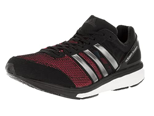 the latest 380e9 70057 Adidas Adizero Boston Boost 5 Mens Running Shoe 6.5 Black-Silver Met-White