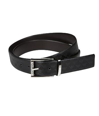 Emporio Armani - Ceinture - Homme Noir Black DarkBrown Taille Unique ... 5d4f2e14859