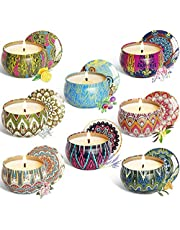 YIH Scented Candles, Soy_Wax, 8 PCS