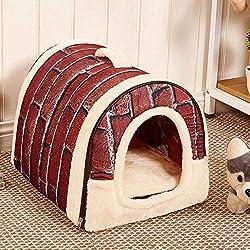 Vovomay Pet Dog Cat Bed House Warm Soft Mat Bedding Igloo Basket Kennel Washable Snug (m)