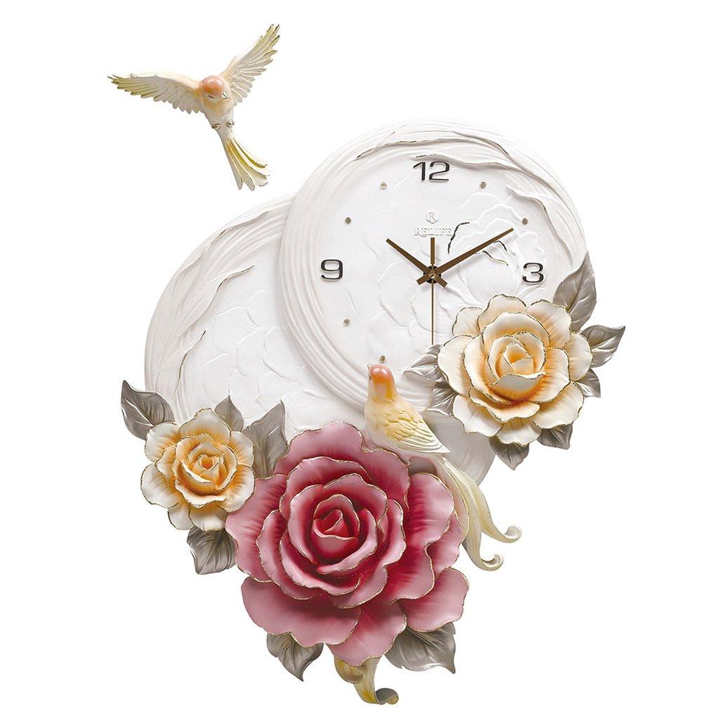 GRJH® バードウォールクロック、リビングルームの時計3次元の創造性のベッドルームホームベルミュートパーソナリティ時計装飾的な時計57x42cm クリエイティブファッションシンプル ( 色 : #1 ) B07CN9LJCG#1