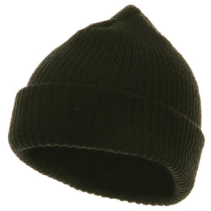Solid Plain Watch Cap Beanie - Black at Amazon Men s Clothing store ... 76058ba6dbb