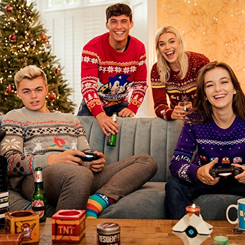 Official Playstation Console Christmas Jumper/Ugly Sweater UK M/US S Grey - coolthings.us