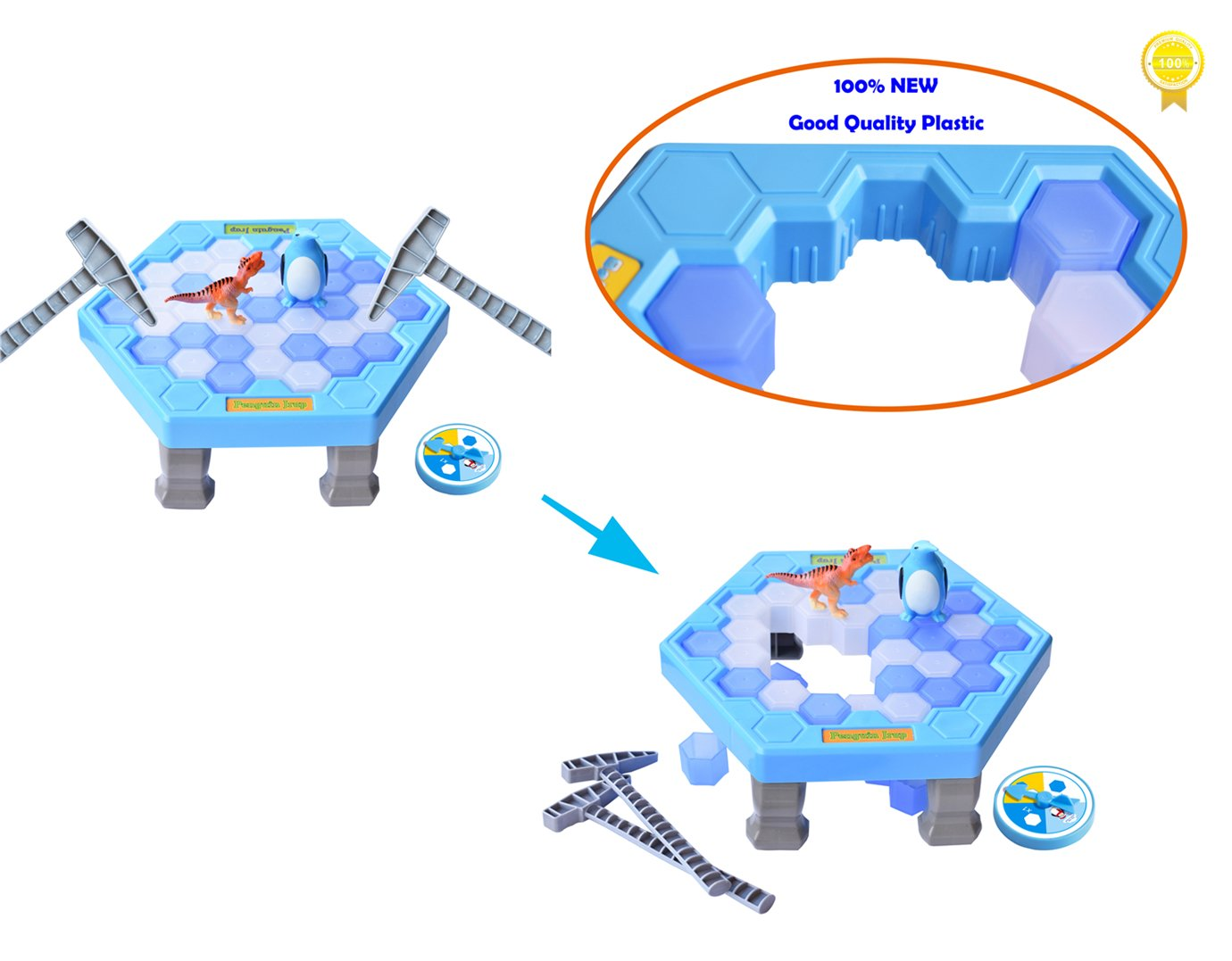 SPEAK FUN Penguin Trap Puzzle Table Games Balance Ice Cubes Icebreaking Games Save the Penguin Interactive Family Game by SPEAK FUN (Image #5)