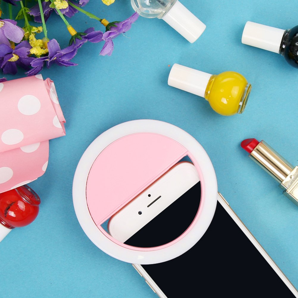 SuBoZhuLiuJ Mini Selfie LED Ring Light Clip Fill Light Ring Photography Self-Timer Artifact for iPhone Android Phone by SuBoZhuLiuJ (Image #7)