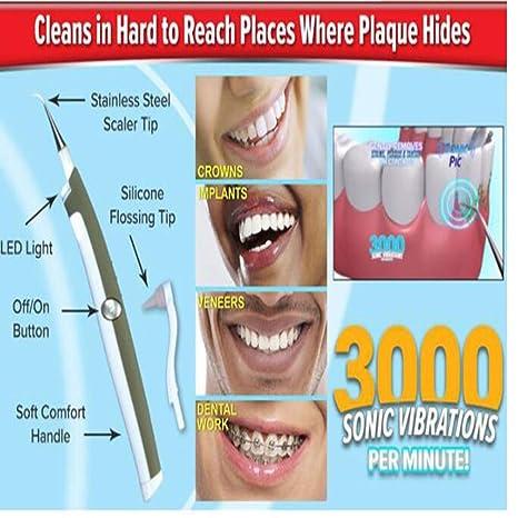 Cepillo De Dientes Eléctrico Automático Cepillo De Dientes De Blanqueamiento Con Luz Fría 360 ° Cepillado: Amazon.es: Salud y cuidado personal