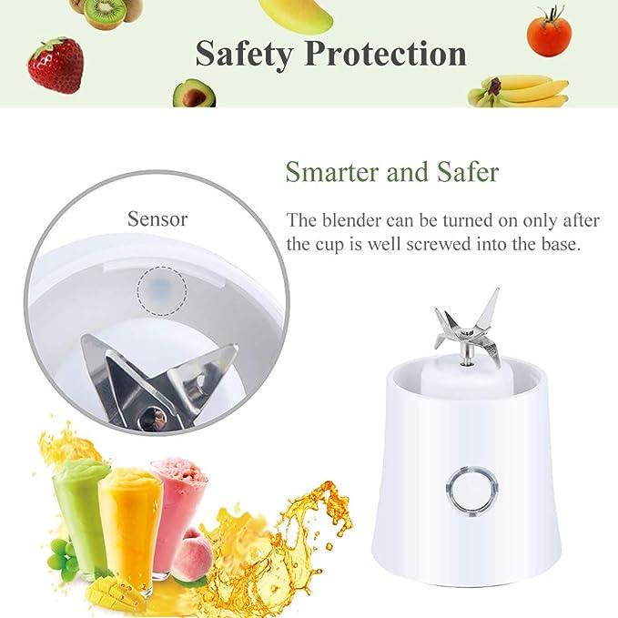 Beaums USB Mini port/átil el/éctrico Licuadora Dos Cuchillas Juicer de la Fruta del Fabricante del Smoothie