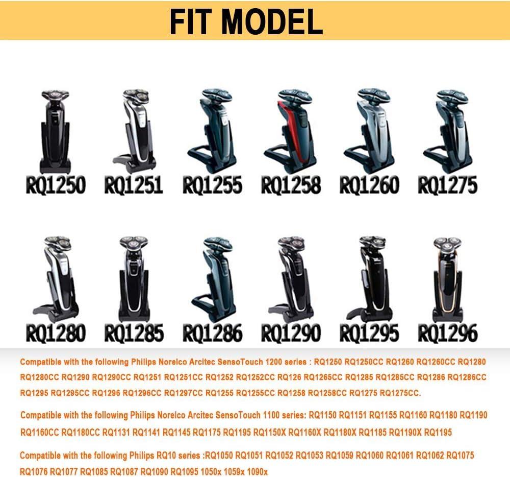 RQ12 Cabezales de Afeitado para Norelco RQ11 RQ10 Sensotouch 3D ...