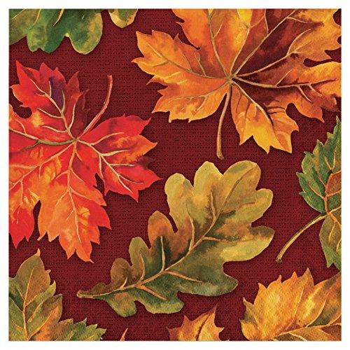 Creative Converting 324034 Party Creations Paper Napkin Fall Flourish