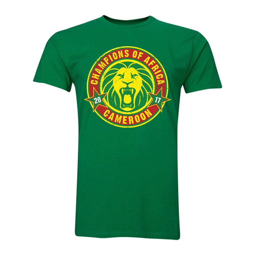 Cameroon African Nations Winners T-Shirt (Green) B0787TW63XGreen Large (42-44\