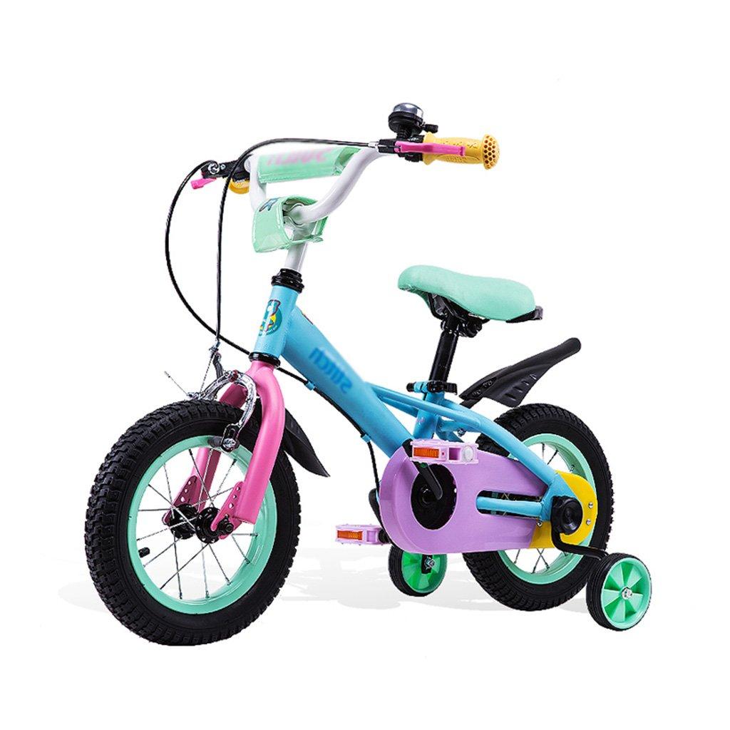 Gai Huaホーム子供用自転車カラー子供の自転車6 – 7-8 – 9-10 Years Old Baby Girl Baby Bike 12 /14 /16インチ B07DQKFKH4  ブルー 12 inches