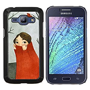 Stuss Case / Funda Carcasa protectora - Bosque Otoño Pintura Gris - Samsung Galaxy J1 J100