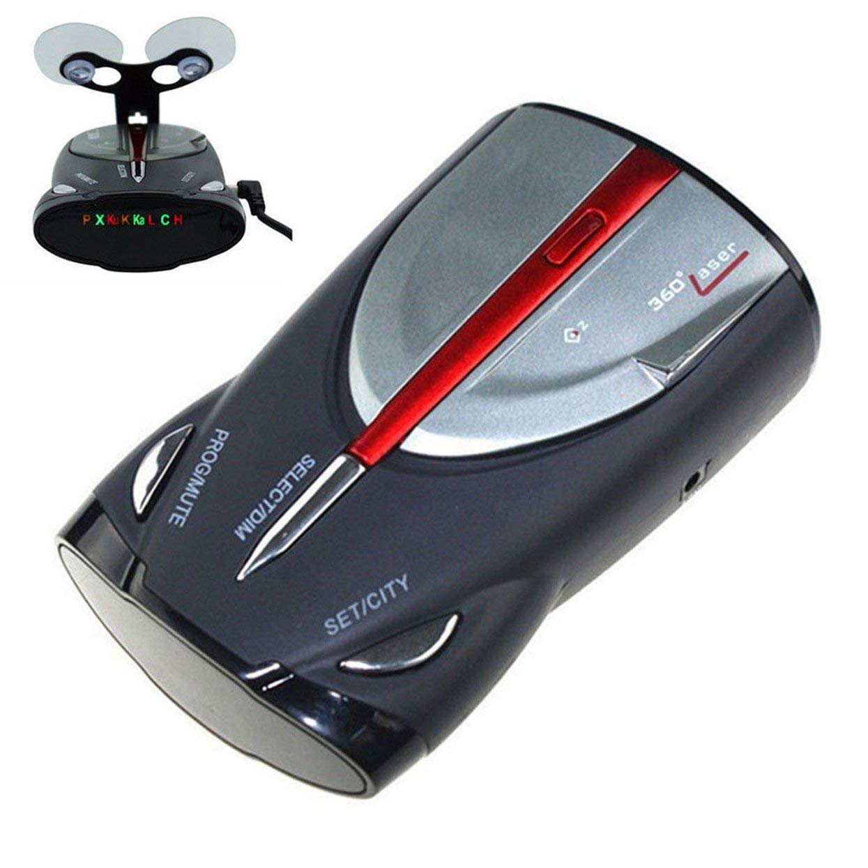 Tellaboull for 12V 16-Band 360 ° Velocidad del Coche GPS Luz Alerta de Voz Detector de Radar Cobra XRS 9880: Amazon.es: Hogar