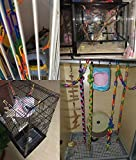 YUYUSO 100 Piece Plastic C-Clips Hooks Chain
