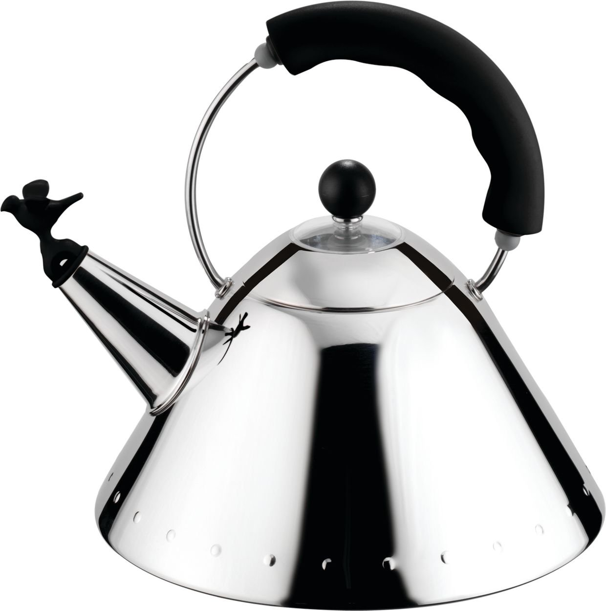 amazoncom alessi michael graves kettle with bird shaped whistle  - amazoncom alessi michael graves kettle with bird shaped whistle blacktea kettle michael graves kitchen  dining