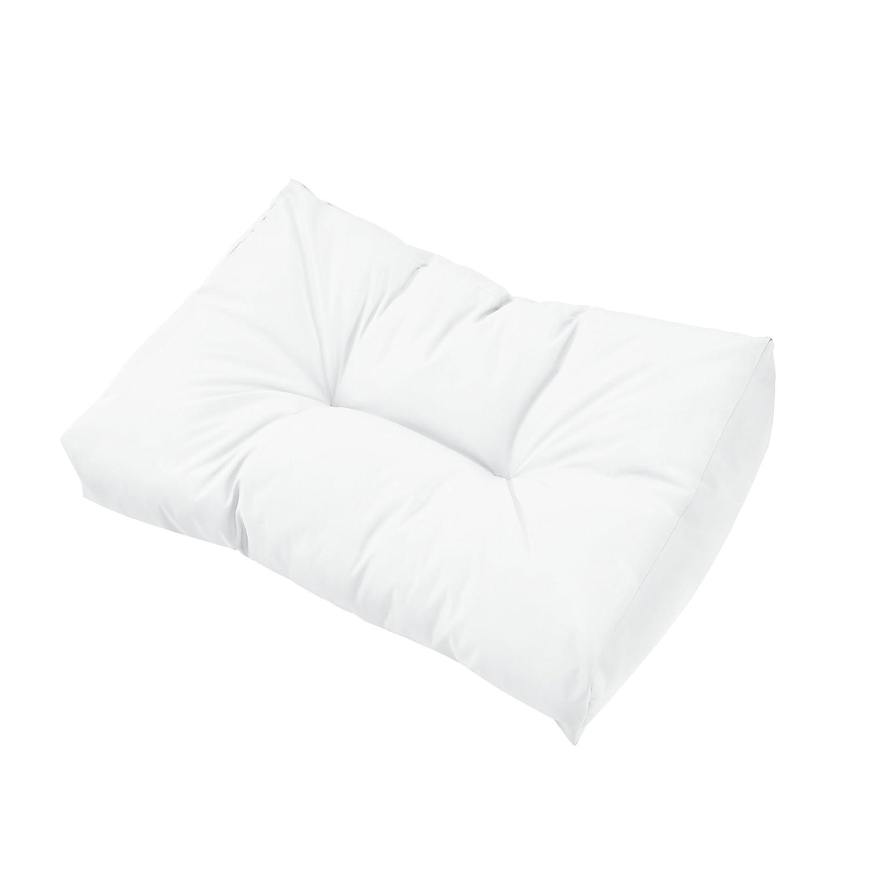 kit de 3 en.casa Coussins pour palettes Blanc Coussin de si/ège Canap/é de palettes in//Outdoor Coussins de Dossier