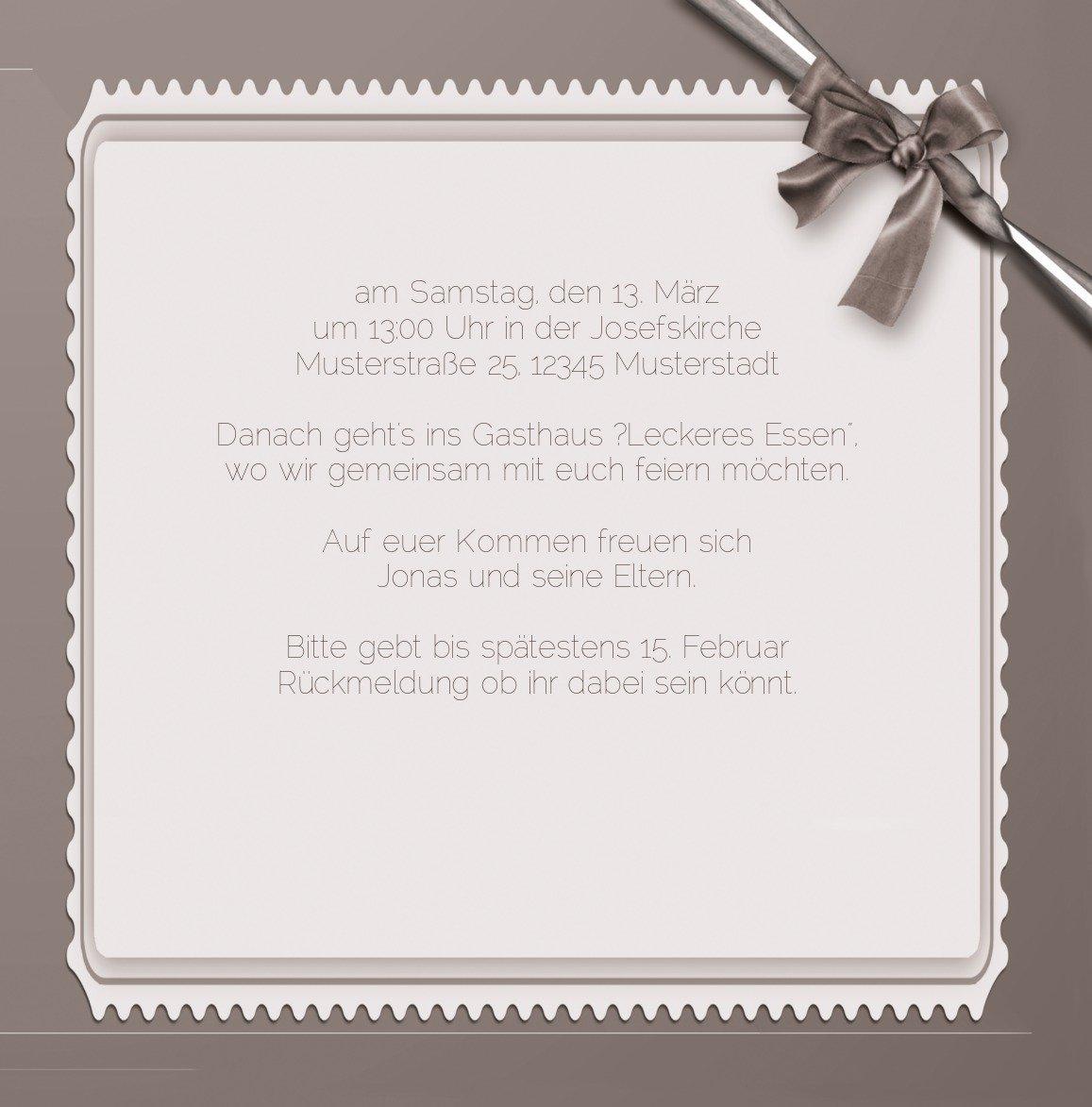 Kartenparadies Einladungskarte Taufeinladung Taufkarte Ribbon, Ribbon, Ribbon, hochwertige Einladung zur Taufe inklusive Umschläge   10 Karten - (Format  145x145 mm) Farbe  Rosalila B01N16WILP | Gewinnen Sie das Lob der Kunden  | Zu einem erschwinglichen Preis  |  c9302d