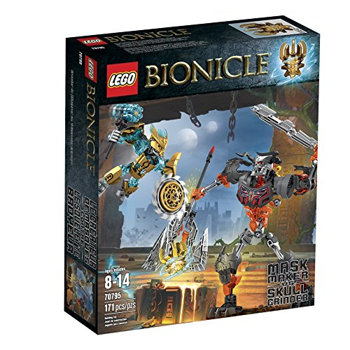 LEGO Bionicle 70795 Mask Maker vs. Skull Grinder Building Kit (Discontinued by (Lego Bionicle Mask)