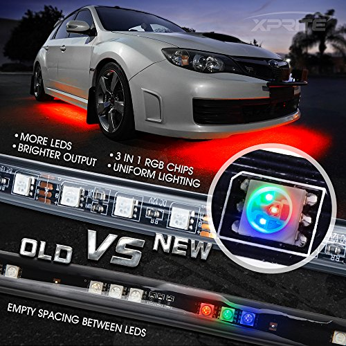 Xprite Car Underglow Underbody System Neon Strip Lights