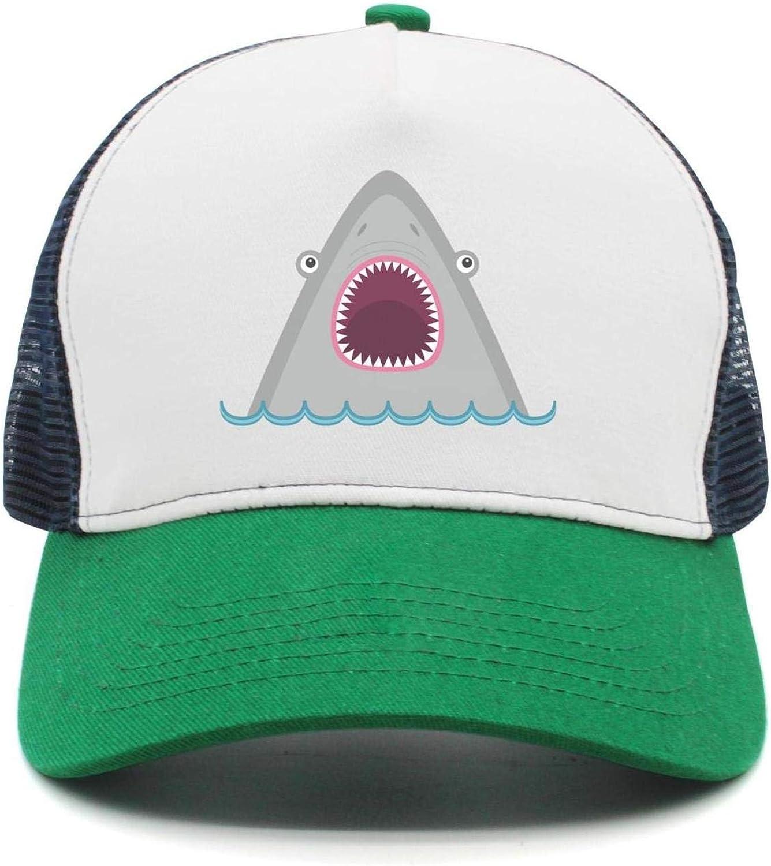 Shark Enthusiast Women Men Baseball Hats Mesh Adjustable Sun Cap Hip-Hop caps