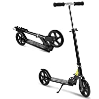 OUTCAMER Adult Scooter Teenager Foldable 3 Levels Adjustable Height 2-Wheel Kick Scooter for Teens Young Women Men Support 100KG(220lbs) Weight