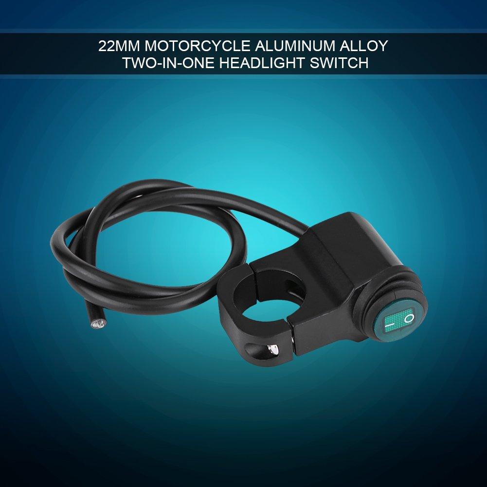 Elerose 22mm universale moto in lega di alluminio impermeabile interruttore fari interruttore della luce di nebbia