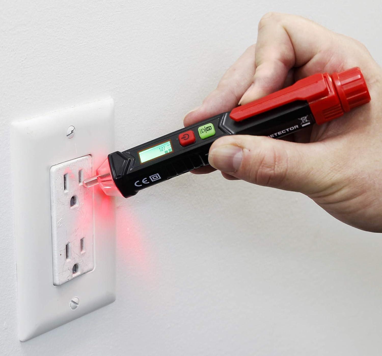 VViViD REV AC Voltage Tester Pen Non Contact w//Flashlight 12-1000v