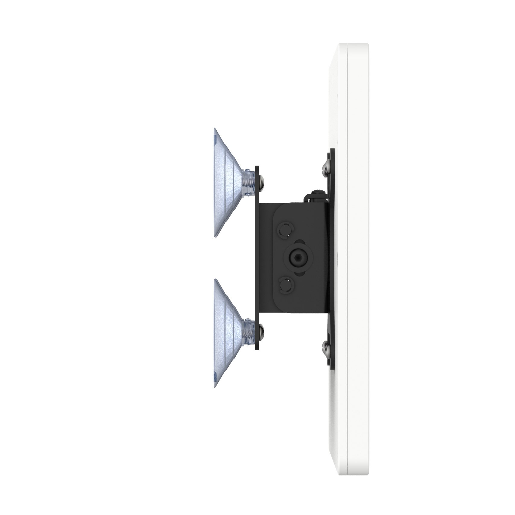 iPad Pro 10.5'' White Home Button Covered Tilting Removable Glass Mount [Bundle] by VidaMount (Image #4)