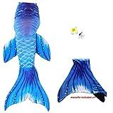 Adult Women Swimmable Mermaid Tail + Monofin Kids